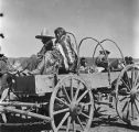 Jicarilla Apache family in wagon, New Mexico
