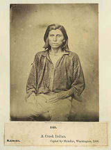 """A Creek Indian, Kansas"""