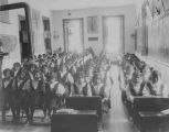 Students in classroom, Loretto Indian School, Bernalillo, New Mexico