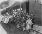 Students in costume, Bernalillo Public School, Bernalillo, New Mexico