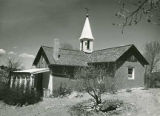Private chapel built by Archbishop J.B. Lamy at retreat (now Bishop's Lodge) north of Santa Fe,...