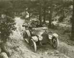 Automobile on forest road, New Mexico