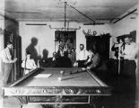 Patients playing billards, Dorsey Mansion, Chico, New Mexico