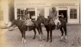 Unidentified Indians on horseback, New Mexico
