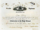 Grade Diploma for Admission to the High School