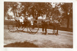 A drive with Miss Bennett at Norristown, PA; Miss Bennett, Leonora, with Catherine, 1900