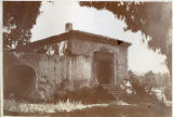 Perez house in which lived the 1st white woman inhabiting San Pasqual Ranch-now Pasadena-Mrs....
