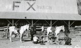 17th May 1938, night. Our adobe built in 1860. Singing cowboy songs after a hard ride on the Bar...