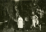 The 2 Leonora's, Mr. Parsons and the dogs on Leonora's grounds, Santa Fe-Sept. 1918