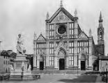 Photographic album, 19th century:  2068 Firenze - Chiesa di Santa Croce e Monumento a Dante...
