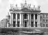 Photographic album, 19th century:  23 Facciata di S. Giovanni Laternano Roma ( Facade of St. John...