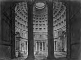 Photographic albumen, 19th century:  157 Interno Del Pantheon Di Agrippa Trasformato in Chiesa Di...