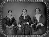 Untitled (3/4 length seated women [three] )
