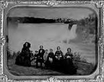 Untitled (Niagra Falls; family Group (8 people) Niagara Falls in Background