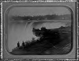 Untitled (Niagara Falls; two figures looking over the edge in foreground)