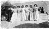 Wedding party: Bridesmaids at wedding of Andres Rivera and Albina Sanchez