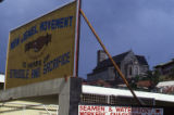 "Sign: ""New Jewel Movement, 10 Years of Struggle and Sacrifice,"" Grenada"