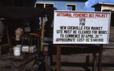 "Sign: ""Artisanal Fisheries Dev. Project,"" Grenada"