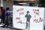 "Mural on wall: ""Defend Your Homeland, Join the Militia,"" Grenada"