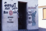 "Mural on wall: ""Support Your Local Buy CPE Now!"""