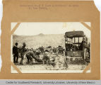 Ambulance picking up wounded soldiers on the battle field
