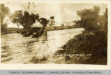 13th Cavalry crossing the swollen stream, Mexico.