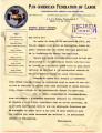 PRESS. PAN AMERICAN LABOR PRESS. / PRENSA. PAN AMERICAN LABOR PRESS