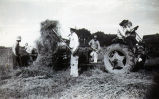 Baling hay at Cunningham farm