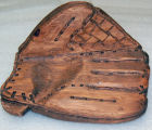 Baseball glove carving