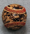 Painted baseball sculpture