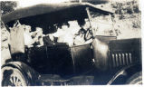 Helen Higgins in car
