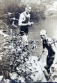 Howard and Carl Brown  swimming in the river