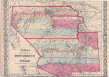 Colton's Territories of New Mexico and Utah
