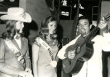Eddie Gallegos with State Fair pageant participants