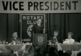 George Bush speaking at Albuquerque Rotary Club