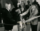 Ken Schultz at ribbon cutting ceremony