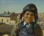 Boy in Helmet, Isleta Village