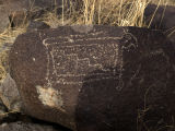 Petroglyph Animal with Geometric Design