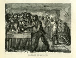 Gambling in Santa Fe Engraving