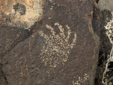 Petroglyph of Bear Claw Symbol