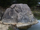 Boulder at Rio Bonito with Petroglyphs
