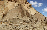 Rear wall at Pueblo Bonito Chaco Canyon