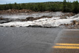 Flood waters at Spindle, NM