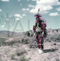 Plains American Indian in ceremonial regalia