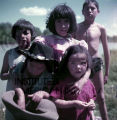 Group of Plains American Indian children