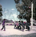 Plains American Indians playing basketball