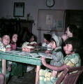 Plains American Indian children in classroom