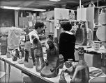 Peter Jones and Karita Coffey in Ceramics Classroom