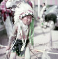 Plains American Indian child in ceremonial regaila