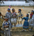 Plains American Indian children at fairgrounds